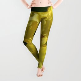 Golden Iris flower - 'Power of One' Leggings