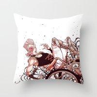 jjba Throw Pillows featuring jean pierre polnareff by vvisti