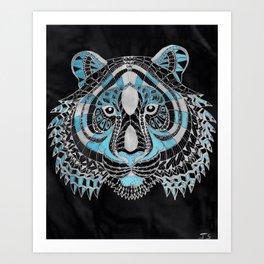 The Blue Tiger Art Print