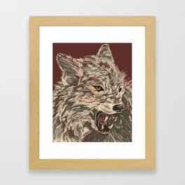 Enraged Framed Art Print