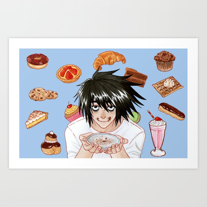 L from Death Note Art Print
