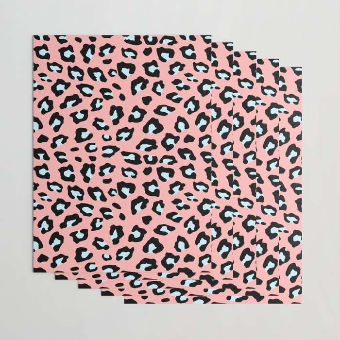 Leopard Print - Icy Peach Wrapping Paper