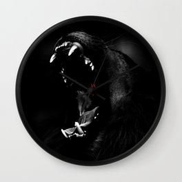 Roaring Animal Mouth Wall Clock