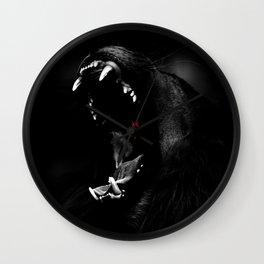 Roaring Animal Mouth Wall Clock