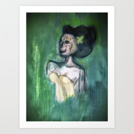 Green Lady Art Print