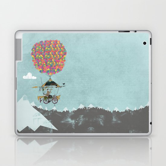Riding A Bicycle Through The Mountains Laptop & iPad Skin