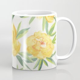 Peonies Watercolor Coffee Mug