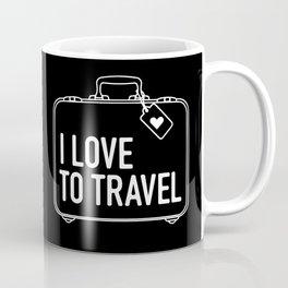 I Love To Travel Coffee Mug