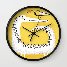 CROCODILE GIFT Wall Clock