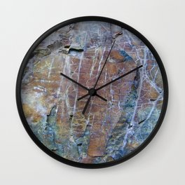 Oxidized Wall Clock