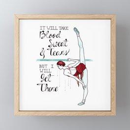 Blood, Sweat & Tears Framed Mini Art Print