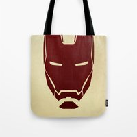 ironman Tote Bags featuring IRONMAN by agustain