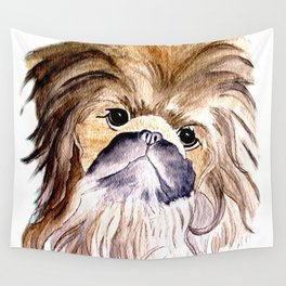Pekingese love Dogs Wall Tapestry