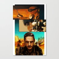 mad max Canvas Prints featuring Mad Max  by nellafantasia