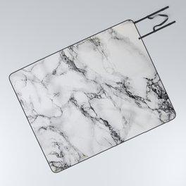 White Marble Texture Picnic Blanket