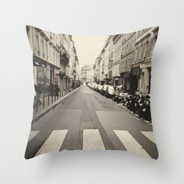 The streets of Paris, France Throw Pillow