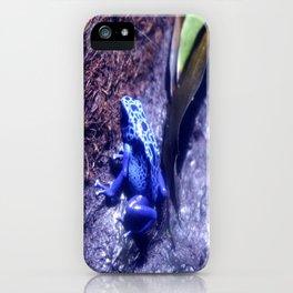 Mr Blue Frog iPhone Case