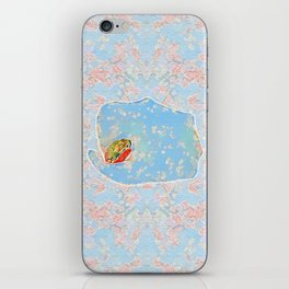 Flower Frog iPhone Skin