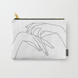Hands line drawing illustration - Clea Carry-All Pouch
