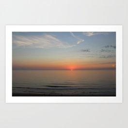 Ocean Sunrise First peek of the sun Art Print