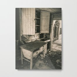 The Handy Dandy Baking Desk Metal Print