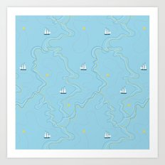 Sailing for the treasure Art Print