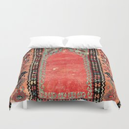 Sivas  Antique Cappadocian Turkish Niche Kilim Print Duvet Cover