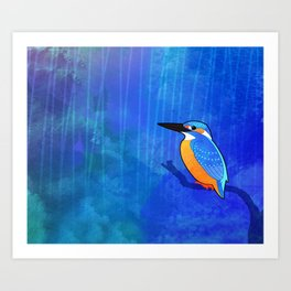 Common Kingfisher (Alcedo atthis) Art Print