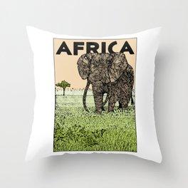 AFRICA (African Elephant) Throw Pillow