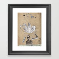 Future is in your head Framed Art Print
