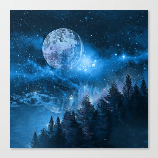 Night forest Canvas Print