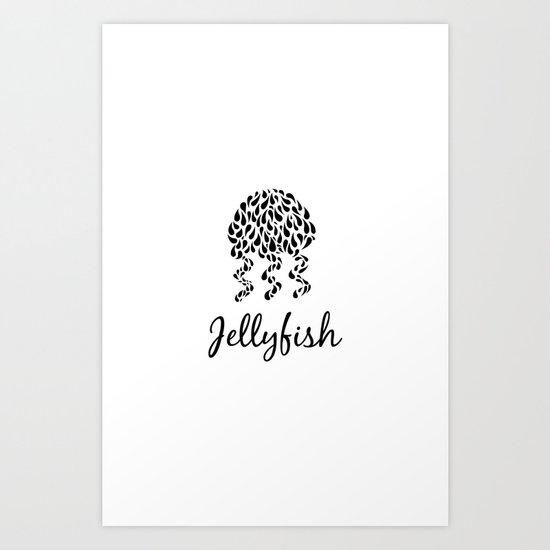 Jellyfish B&W Art Print