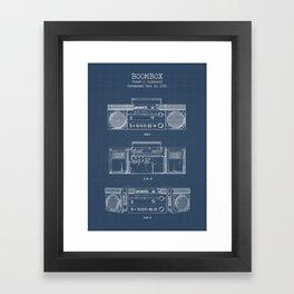 Boombox blueprints Framed Art Print