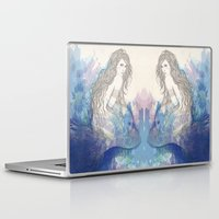 pisces Laptop & iPad Skins featuring Pisces by katiwo