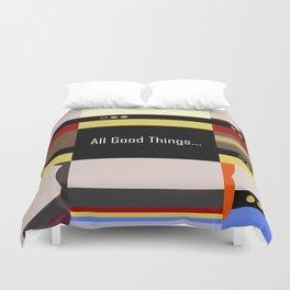 TNG - All Good Things - Minimalist Star Trek TNG The Next Generation 1701 D  startrek  Trektangles Duvet Cover