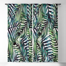 Palm Leaves Abstract Blackout Curtain