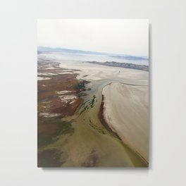 Salt Lake Marshes Metal Print