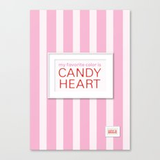 my favorite color is candy heart Canvas Print