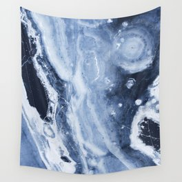 Marble Ice Indigo Wall Tapestry