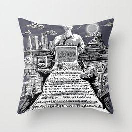 on the road - kerouac  Throw Pillow
