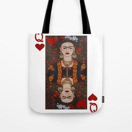 Frida Kahlo, reina de corazones II Tote Bag