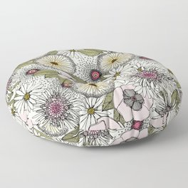 Australian garden chalk Floor Pillow