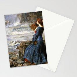 John William Waterhouse - Miranda - The tempest Stationery Cards
