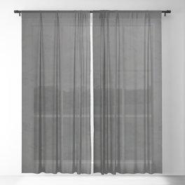 Black to gray underground urban camouflage Sheer Curtain