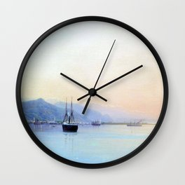 A Bay 1880 By Lev Lagorio | Reproduction | Russian Romanticism Painter Wall Clock