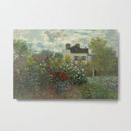 Claude Monet  A Corner of the Garden with Dahlias Metal Print