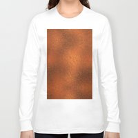 gold foil Long Sleeve T-shirts featuring Gold Foil Texture 4 by Robin Curtiss