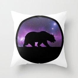 Galaxy Bear Throw Pillow