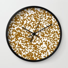 Small Spots - White and Golden Brown Wall Clock