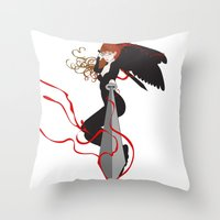 justice Throw Pillows featuring Justice by Stevyn Llewellyn
